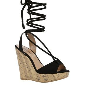 Call It Spring Lace Up Treawen Espadrille Sandals